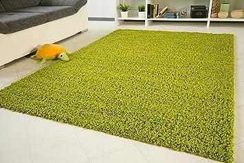 Langflor teppich  Amazon.de: Shaggy Hochflor Teppich Funny Langflor Teppich in grün ...