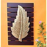Maple Craft Brass Leaf Wall Art(Gold Brown_10 X 16)