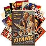 HK Studio Vintage Posters of Classic Movie, Self-Adhesive Vinyl Decal Indie Posters for Room Aesthetic 90s Wall Collage Kit,
