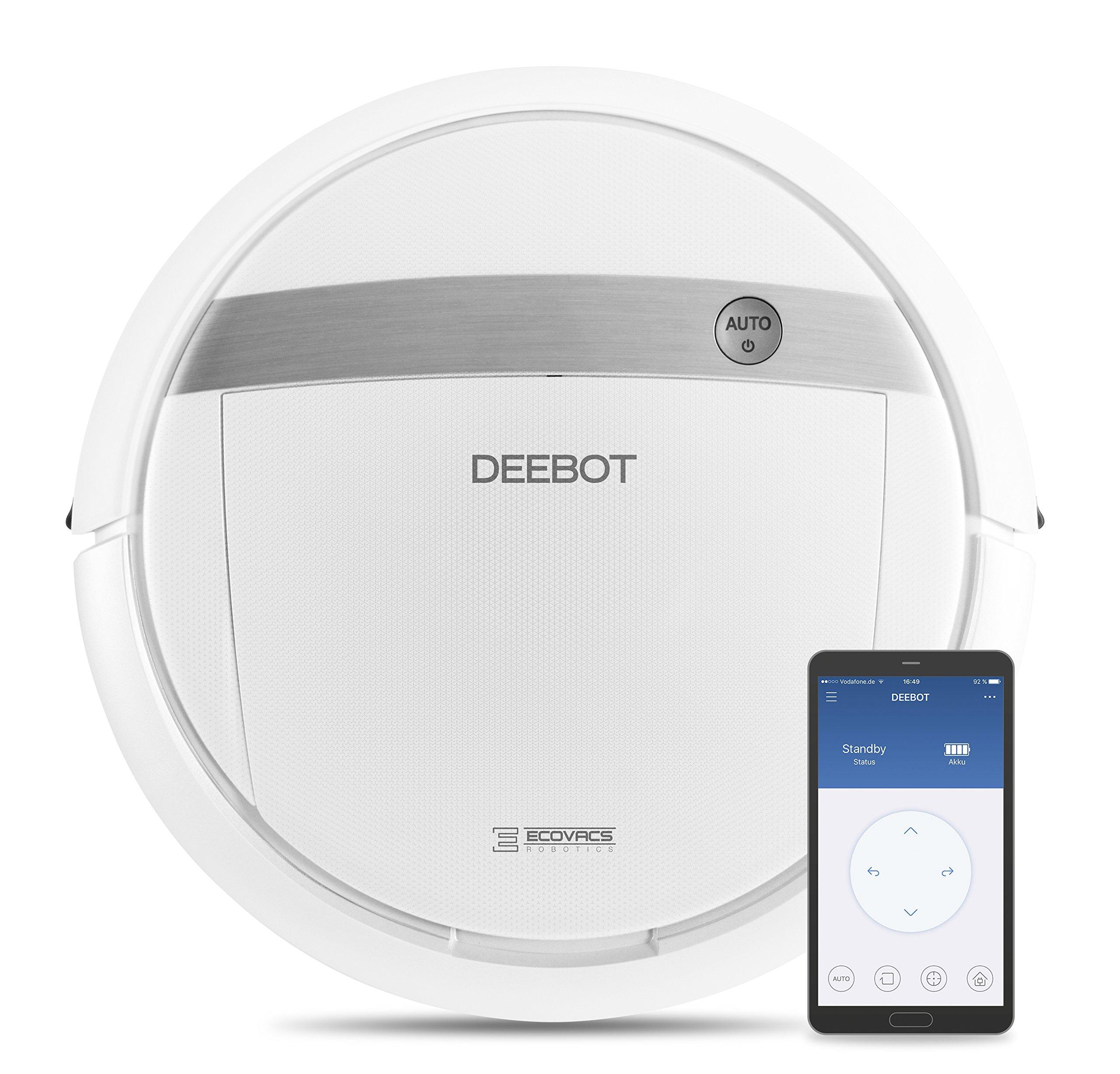 Ecovacs Deebot M88 Saugroboter mit Wischfunktion und App, weiß