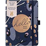 Busy B Mid-Year to Do Diary August 2021 - August 2022. Navy A6 Week to View Planner with Pen Holder, Elastic Closure and Stor