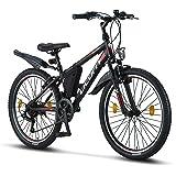 Licorne Bike Guide Premium mountainbike-fiets voor meisjes, jongens, heren en dames, 21 (18 bij 20 inch) versnellingen