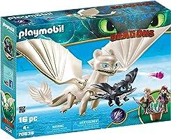 Playmobil Furie Éclair et bébé Dragon avec Enfants, 70038