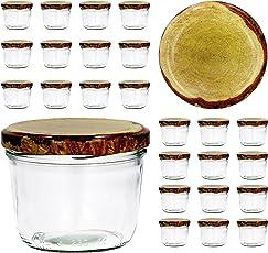 25er Set Sturzglas 230 ml To 82 - Verschiedene Deckelfarben wählbar - Marmeladenglas Einmachglas Einweckglas