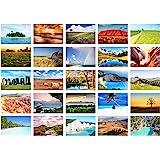 Edition sidenel set 25 premium vykort landskap natur hav berg skog tälvor kort vykort