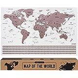 envami Mapa świata I 68 x 43 cm I Różowe złoto I mapa świata I mapa świata zdrapać I mapa świata I mapa podróży I plakat z ma