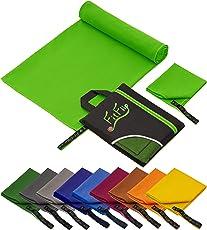 Fit-Flip 1er Pack und 2er-Set Mikrofaser Handtücher, Ultra saugfähig + Leicht, Sporthandtuch, Reisehandtuch, Badetuch Microfaser, Saunatuch, Strandhandtuch XXL