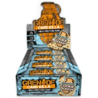 Grenade Carb Killa High Protein und Low Carb Riegel, 12 x 60 g - Choc Chip Cookie Dough