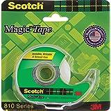 Scotch Magic Tape - The Original Matte-Finish Invisible Tape by 3M (1 Roll - Width 1.9cm Length 32.9m + 1 dispenser)