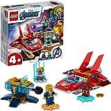 LEGO 76170 Marvel Avengers Iron Man vs. Thanos leksak med jet och 2 superhjältefigurer för småbarn 4 år gammal