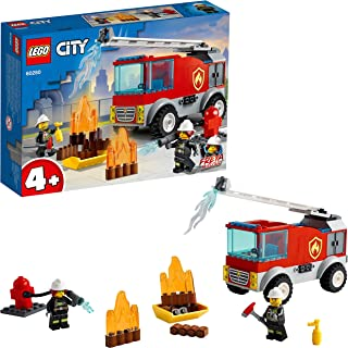 LEGO Fire Ladder Truck Building Blocks for 4 Years and Above