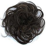 PRETTYSHOP 100% ECHT HAAR knapperig haarstukje haarverdikking vlecht haarband haaraccessoires donkerbruin mix H312i
