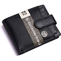 Hammonds Flycatcher RFID Protected Black Nappa Leather Wallet for Men|5 Card Slots| 1 Coin Pocket|2 Hidden Compartment|2…