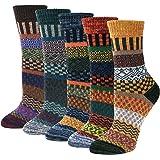5pairs Women Socks Merino Wool Winter Thermal Soft Classic Business Chunky Socks Breathable Premium Hiking Socks Sweat-wickin