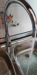 Ca/ño alto Amzdeal Grifo de Cocina Grifo negro de cocina con Giro de 360/° grifo mezclador monomando para Agua Caliente y Fr/ía Grifos de Fregadero Cromado