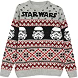Star Wars Christmas Stormtroopers Boys Knitted Jumper Xmas Jumper Ugly Sweater Fair Isle Gift Ideas Official Merchandise
