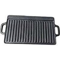 Black Rock Grill Cast Iron Reversible Griddle Pan, Double Sided