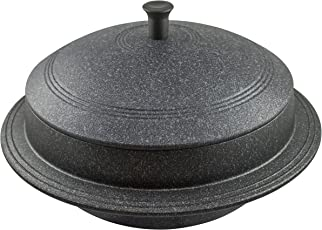 Lootkabazaar Korean Made Non Stick Cast Iron Pot with Lid 7 Inches (KAHP001)