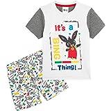 Bing Bunny Pijama Niño Verano, Conjunto 2 Piezas Camiseta Manga Corta y Pantalon Corto Niño, Conjuntos Niño Verano, Regalos p