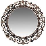 Smera 40 x 40 cm Beautiful Elegance Designer Frame Wall Mirror for Home (Gold)