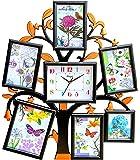 Chirag Enterprise Plastic Clock Photo Frame (Black)