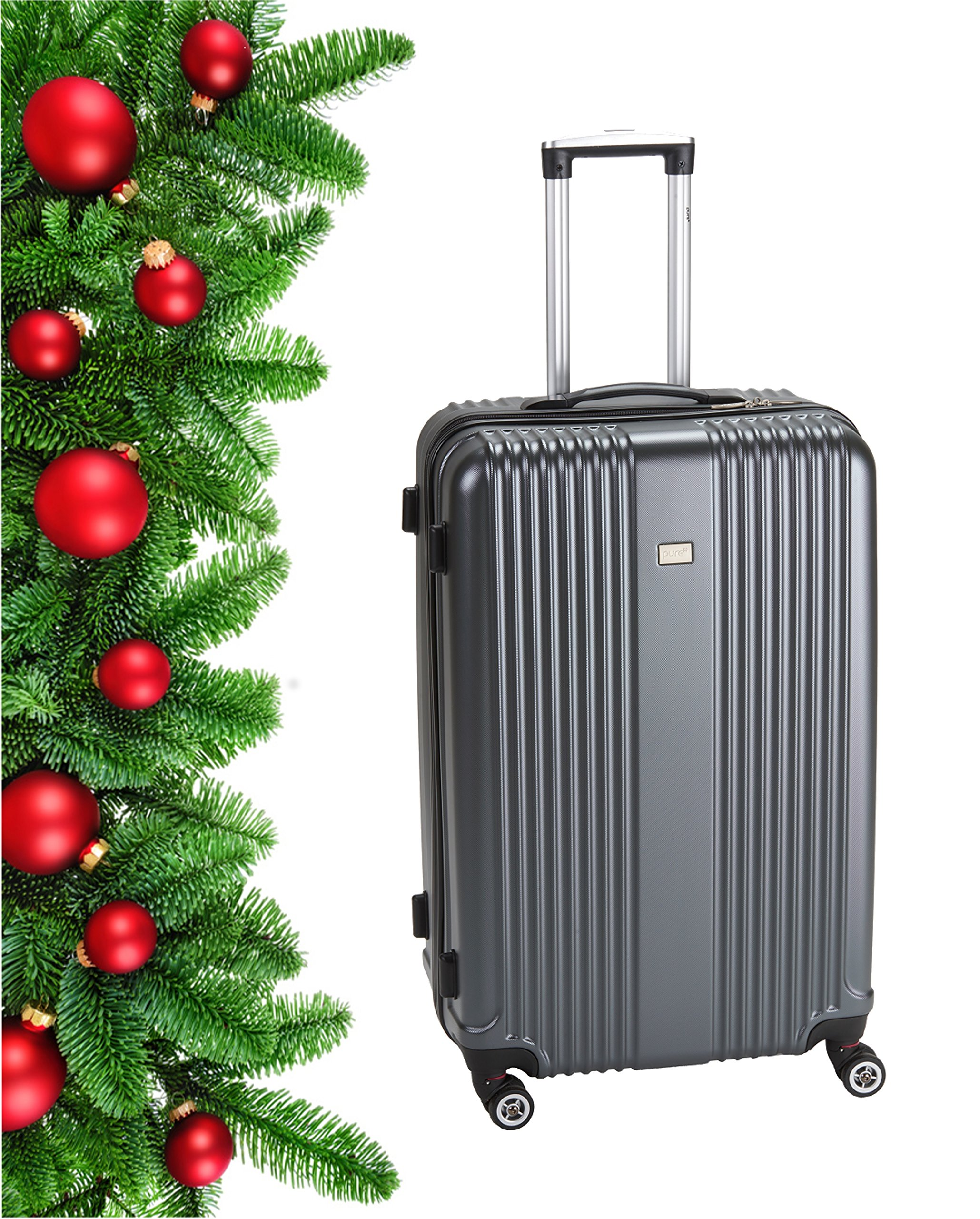 Pure-Koffer-SensationReisekoffer-HartschaleTrolley-Robustes-PET-4-RollenTSA-ZahlenschlossReisegepck