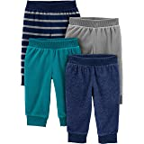 Simple Joys by Carter's Bebé Niños Pantalones de forro polar, Pack de 4