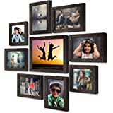 AJANTA ROYAL Synthetic Wood Photo Frame (6.1 x 8.1 inch, 6.1 x 6.1 inch, 9.1 x 11.1 inch, Brown)