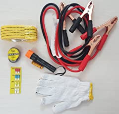 Inditradition Car Emergency Kit (6 in 1 Set) for All Type of Saloon/Sedan Cars (with Towing Rope)
