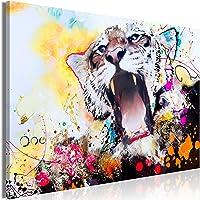 decomonkey | Impression sur Toile intissée Abstrait Animaux 60x40 cm | 1 Piece | Tableau Mural Image sur Toile Photo…
