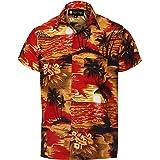 Camicie hawaiane da Uomo Artigianali Vergini Camicie da Vacanza con Stampa Cocco Camicie da Uomo Aloha