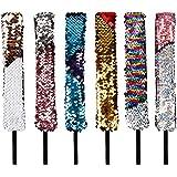 Fasce di paillettes Cute Hair Hoop Shiny Reversibile Non scivolare Stile sirena Decorazione di bomboniere 6 PCS per bambini A