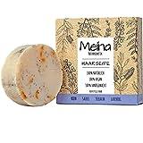 Meina Naturkosmetik - Bio Haarseife für fettiges Haar gegen Schuppen mit Salbei & Teebaum, Vegan, Nachhaltig, Handgemacht, Pl