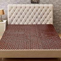 Kuber Industries Wooden Design PVC Waterproof Mattress Protector Sheet - Brown