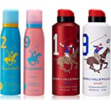 U.S. Polo Association Beverly Hills Polo Club Deodorant for Women, 150ml (Pack of 2) and Beverly Hills Polo Club Deodorant fo