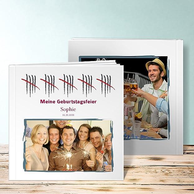 Amazon.de: Fotobuch 60 Geburtstag Erstellen, Strichliste 50 40 Seiten,  Hardcover 290x222 Mm