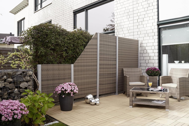 Gartenfreude Aluminium Pfosten inkl Aufschraubhülse für
