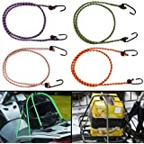 Autofy Multipurpose Ultra Flexible Bungee Rope/Luggage Strap/Bungee Cord with 10 MM Diameter and Metal Hooks…