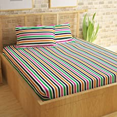 Story@Home Cotton Double Bedsheet with 2 Pillow Covers - King Size