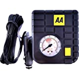 AA 12 V Compact Tyre Inflator AA5007 – For Cars Other Vehicles Inflatables Bicycles - Shows PSI BAR KPA 0-80 PSI…
