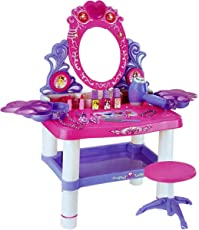 Toyshine Big Size Dressing Table Make up Toy Set with Music, Lights, Accessories to Play (62X33X65Cms)