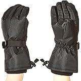 Amazon Basics Waterproof Snow Gloves, Black, M