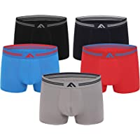 FM London (5-Pack) Super Soft Bamboo Men's Boxers   Tagless, Stretch fit, Odour Resistant
