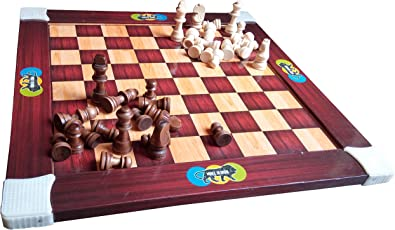 Samaira Wooden 2-in-1 Chess Board with Ludo Game