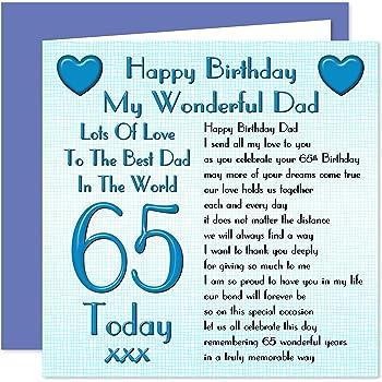 Dad 65th Happy Birthday Card