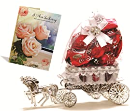 Skylofts Beautiful Horse Chocolate Gift With Sorry Card ( 10 Pc Chocolates)