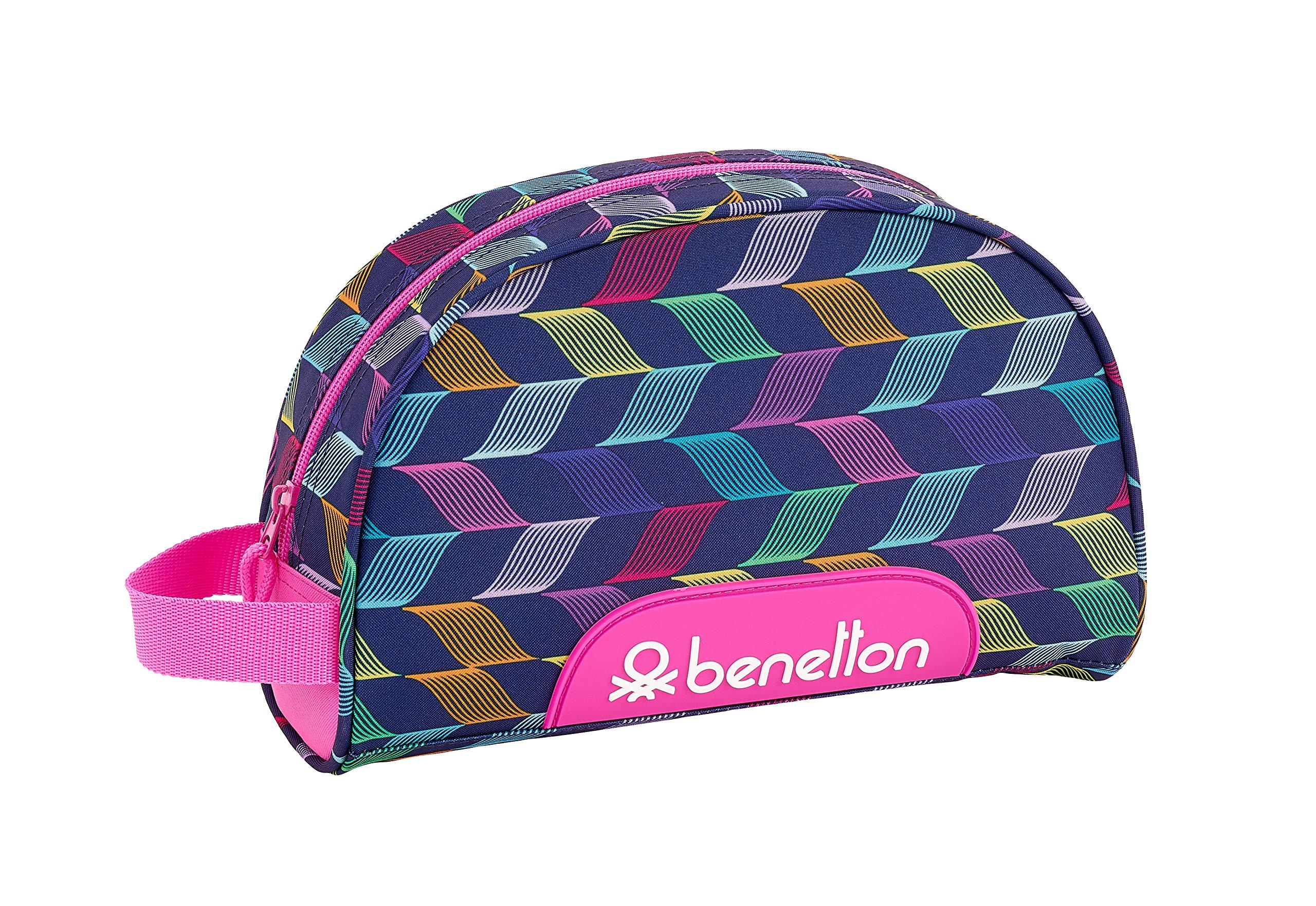 Benetton «Ondas» Oficial Mochila Escolar Infantil Pequeño Con Asa 280x100x180mm