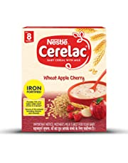 Nestlé CERELAC Fortified Baby Cereal with Milk, Wheat Apple Cherry – From 8 Months, 300g BIB Pack