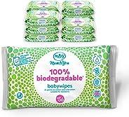 Mum & You Salviettine Umidificate Biodegradabili per Bambini e Neonato. Confezione da 12, (672 Salviette in Totale).100% Bio