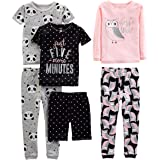 Simple Joys by Carter's 6-Piece Snug Fit Cotton Pajama Set Bebé Niñas, Pack de 6